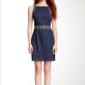 Cynthia Steffe Rosa Dress Bead Accent Size 12